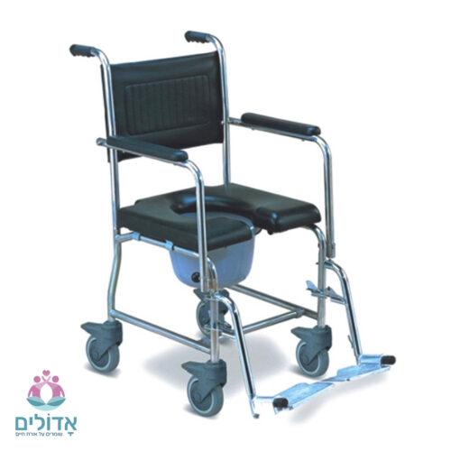 כיסא שירותים ורחצה נירוסטה