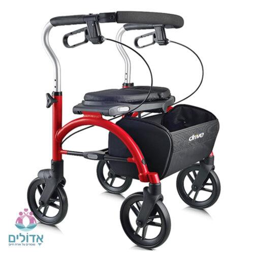 רולטור 4 גלגלים עם מושב מתקפל DRIVE